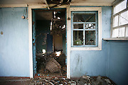 Chernobyl, Exclusion Zone, Ukraine. Interiors of unihabited homes. Evacuated villages on the outskirts of the  Chernobyl Reactor, town, plant and environs just before the 20th anniversary of the nuclear disaster.