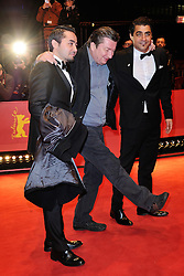 Actor Sherwan Haji, director Aki Kaurismaki and actor Simon Hussein Al-Bazoon attending the closing ceremony for the 67th Berlin International Film Festival (Berlinale) in Berlin, Germany on Februay 18, 2017. Photo by Aurore Marechal/ABACAPRESS.COM