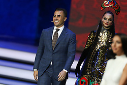 December 1, 2017 - Moscow, Russia - Draw assistant, Fabio Cannavaro walks onto the stage during the Final Draw for the 2018 FIFA World Cup Russia at the State Kremlin Palace on December 1, 2017 in Moscow, Russia  (Credit Image: © Igor Russak/NurPhoto via ZUMA Press)