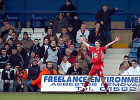 Photo: Kevin Poolman.<br />Luton Town v Blackburn Rovers. The FA Cup. 27/01/2007. Blackburn's Matt Derbyshire celebrates his goal and Blackburn's first.