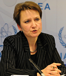 15.03.2011, IAEA, Wien, AUT, Pressekonferenz zur aktuellen Lage in Japan, im Bild Elena Buglova of the IAEA Emergency and Incident Centre // Elena Buglova of the IAEA Emergency and Incident Centre during Press conference about the current situation in Japan, EXPA Pictures © 2011, PhotoCredit: EXPA/ M. Gruber