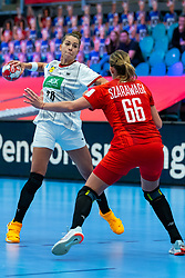Emily Bolk of Germany during the Women's EHF Euro 2020 match between /Germany and Poland at Sydbank Arena on december 07, 2020 in Kolding, Denmark (Photo by RHF Agency/Ronald Hoogendoorn)