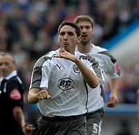 Photo: Jed Wee/Sportsbeat Images.<br /> Carlisle United v Bristol City. Coca Cola League 1. 21/04/2007.<br /> <br /> Bristol City's Bradley Orr celebrates.