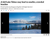 """Full Lake Tahoe <br /> <br /> Image: """"Blue Skies and a Blue Lake"""""""
