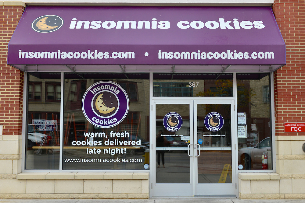 Exterior of Insomnia Cookies.