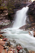 Baring Falls in Glacier National Park, Montana.