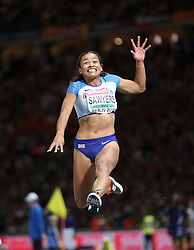 Great Britain's Jazmin Sawyers competes in the Women's Long Jump Final during day five of the 2018 European Athletics Championships at the Olympic Stadium, Berlin.