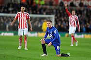 James McCarthy of Everton © looks on. Barclays Premier League match, Stoke city v Everton at the Britannia Stadium in Stoke on Trent , Staffs on Wed 4th March 2015.<br /> pic by Andrew Orchard, Andrew Orchard sports photography.