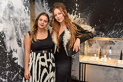 Left to right, Eva Fehren and Liza Urla at a party hosted by Nicholas Kirkwood and Eva Fehren to celebrate Part 2 in the Nicholas Kirkwood presents series held at Nicholas Kirkwood, 5 Mount Street, London England. Eva Fehren is a fine jeweller, born and raised in New York City. Her collections are both inspired and created in the city, and via the Nicholas Kirkwood store, it is the first opportunity to view and shop the collection in London. 9 November 2017.