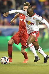 October 30, 2017 - Harrison, New Jersey, U.S - New York Red Bulls forward BRADLEY WRIGHT-PHILLIPS (99) and Toronto FC defender DREW MOOR (3) in action at Red Bull Arena during the Audi 2017 MLS Cup Playoffs Eastern Conference Semifinal in Harrison New Jersey Toronto defeats New York 2 to 1 (Credit Image: © Brooks Von Arx via ZUMA Wire)