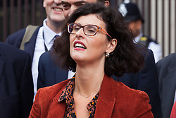 "London, UK. 25 September, 2019. Layla Moran, Liberal Democrat MP for Oxford West and Abingdon, prepares to return to Parliament with her colleagues on the day after the Supreme Court ruled that the Prime Minister's decision to suspend parliament was ""unlawful, void and of no effect"". Credit: Mark Kerrison/Alamy Live News"