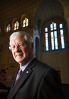 Police Chaplain inside the chapel at Police Academy in Glen Waverly, Reverend Jim Pilmer. Photo By Craig Sillitoe