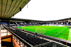 A general view of Pride Park Stadium, home to Derby County - Mandatory by-line: Ryan Crockett/JMP - 05/09/2020 - FOOTBALL - Pride Park Stadium - Derby, England - Derby County v Barrow - Carabao Cup