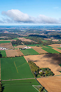 Image from a flight over rural Dane County, Wisconsin on a beautiful autumn day.