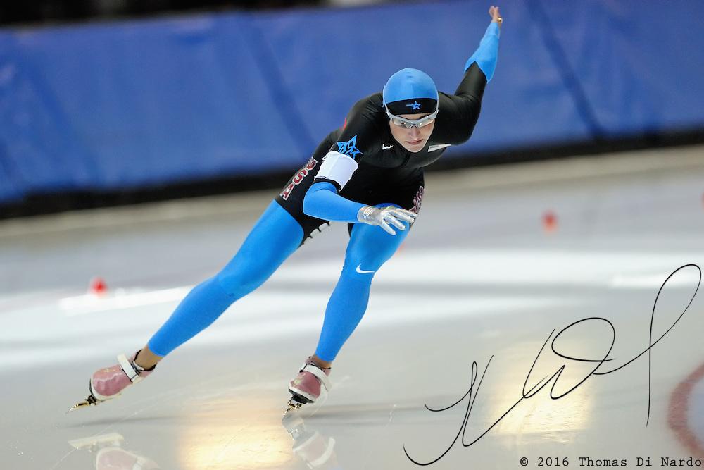 September 18, 2010 - Kearns, Utah - Lauren Cholewinski races in long track speedskating time-trials held at the Utah Olympic Oval.