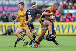 Jack Lam (capt) of Bristol Rugby in action - Rogan Thomson/JMP - 08/10/2016 - RUGBY UNION - Kingston Park - Newcastle, England - Newcastle Falcons v Bristol Rugby - Aviva Premiership.