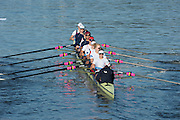 """Amsterdam. NETHERLANDS. GBR W8+. """"Push Off"""" from the boating dock2014 FISA  World Rowing. Championships.  De Bosbaan Rowing Course . 08:39:01  Thursday  21/08/2014  [Mandatory Credit; Peter Spurrier/Intersport-images]"""