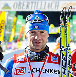 23.01.2011, Loipe Obertilliach, Obertilliach, AUT, 37. Dolomitenlauf, im Bild Fabio Santus (ITA) gewinnt den 37. Dolomitenlauf// EXPA Pictures © 2011, PhotoCredit: EXPA/ M. Gruber