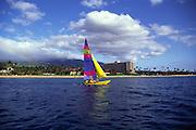Sailing off Kaanapali, Maui, Hawaii<br />