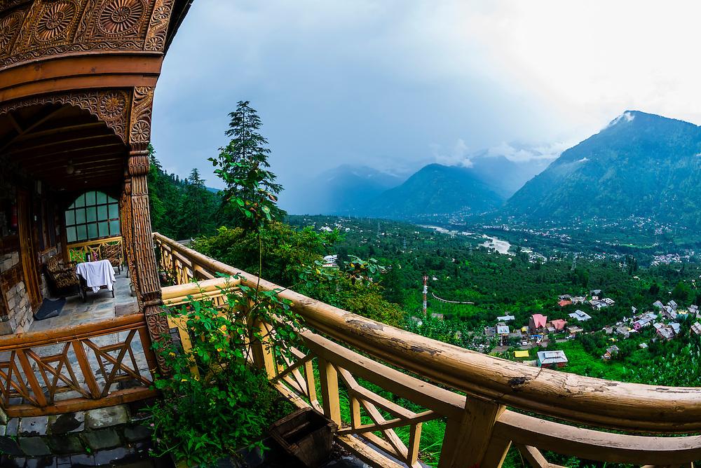 Hotel Castle Naggar, Naggar, near Manali, Himachal Pradesh, India.