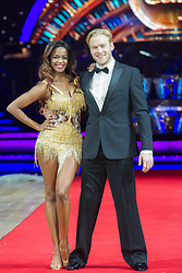 Jonnie Peacock and Oti Mabuse posing during photocall before the opening night of Strictly Come Dancing Tour 2018 at Arena Birmingham in Birmingham, UK. Picture date: Thursday 18 January, 2018. Photo credit: Katja Ogrin/ EMPICS Entertainment.
