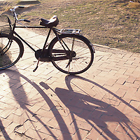 Bicycles in park, Beijing City scene, China, PRC,, Middle Kingdom,