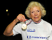 Birmingham, Great Britain,  Women's 75-79 LWT, Gold Medallist, Mavis SURRIDGE, Fitness First, Reading , competing at the 2008 British Indoor Rowing Championships, National Indoor Arena. on  Sunday 26.10.2008 . [Photo, Peter Spurrier/Intersport-images] .
