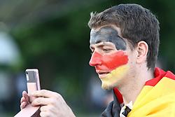 23.06.2010, Olympiapark, Muenchen, GER, FIFA Worldcup, Puplic Viewing Ghana vs Deutschland  im Bild Fan, EXPA Pictures © 2010, PhotoCredit: EXPA/ nph/  Straubmeier / SPORTIDA PHOTO AGENCY