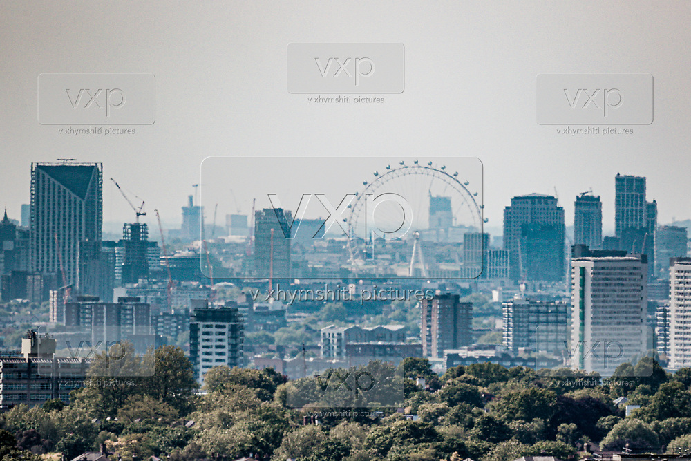 A general view of central London as Britain faces its seventh week of lockdown due to the coronavirus outbreak, in London, Thursday, May 7, 2020. The highly contagious COVID-19 coronavirus has impacted on nations around the globe, much-imposing self isolations and exercising social distancing when people move from their homes. (Photo/ Vudi Xhymshiti)