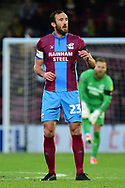 Scunthorpe United defender Rory McArdle during the The FA Cup 1st round match between Scunthorpe United and Burton Albion at Glanford Park, Scunthorpe, England on 10 November 2018.