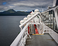Images from the deck of the MV Columbia. Alaska Marine Highway Ferry transiting the Inside Passage from Washington to Alaska. Image taken with a Nikon D3 camera and 50 mm f/1.4 lens.