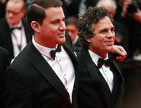 Channing Tatum and Mark Ruffalo  at the Foxcatcher gala screening red carpet at the 67th Cannes Film Festival France. Monday 19th May 2014 in Cannes Film Festival, France.