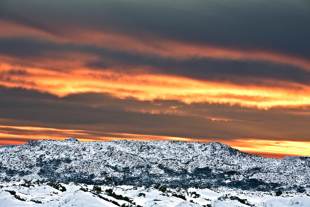 Sunset, Mount Wellington Forest Park - Tasmania