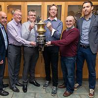 Peter McLoone, Sean Chambers, Vice-Chairman, Joe Morrissey, Joe Kelly, Secretary, Murach O'Donoghue with Clare Captain, Gary Brennan
