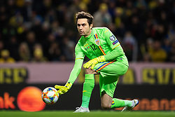 March 23, 2019 - Stockholm, SWEDEN - 190323 Goalkeeper Ciprian Tatarusanu of Romania during the UEFA Euro Qualifier football match between Sweden and Romania on March 23, 2019 in Stockholm..Photo: Joel Marklund / BILDBYRÃ…N / kod JM / 87914 (Credit Image: © Joel Marklund/Bildbyran via ZUMA Press)