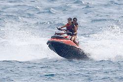 Antibes, 21st of May, 2017<br /> Kendall Jenner and Kourtney Kardashian jet skiing in the Bay of Cannes<br /> ABACAPRESS.COM