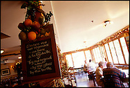 Le Relais Restaurant in Knowlton, Quebec, Canada serves local wine and cuisine.