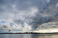 Clouds over downtown Vancouver, BC, Canada.