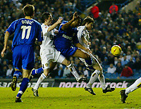 Fotball<br /> England 2004/2005<br /> Foto: BPI/Digitalsport<br /> NORWAY ONLY<br /> <br /> Leeds United v Millwall<br /> Coca Cola Championship. <br /> 19/12/2004.<br /> <br /> John Oster of Leeds brings down Paul Ifill for the late penalty
