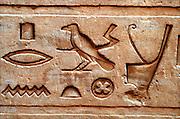 Egypt Locations Hieroglyphics