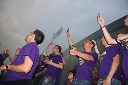 Maribor celebrates after last football match of PrvaLiga Telekom Slovenije between NK Maribor and NK Interblock, when Maribor became a Slovenian National Champion, on May 23, 2009, in Ljudski vrt, Maribor. (Photo by Marjan Kelner/Sportida)