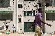 Sco0033837 .  Daily Telegraph..A battle scarred neighbourhood in the Abu Salim district of Tripoli which saw heavy fighting...Tripoli 8 September 2011. .