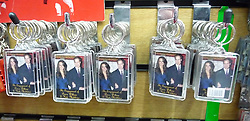 © under license to London News Pictures.  .William and Kate souvenirs ahead of the Royal Wedding in April 2011..Keyrings of the Royal Couple..Photo credit should read Craig Shepheard / London News Pictures