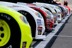 September 1, 2018 - Darlington, SC, U.S. - DARLINGTON, SC - SEPTEMBER 01:  Cars lined up on pit road during qualifying for the 69th annual Bojangles Southern 500 on Saturday September 1, 2018 at Darlington Raceway in Darlington South Carolina (Photo by Jeff Robinson/Icon Sportswire) (Credit Image: © Jeff Robinson/Icon SMI via ZUMA Press)
