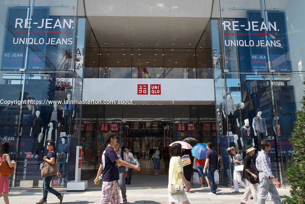 Uniqlo flagship store in Ginza Tokyo Japan