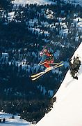 Alaska, Haines. Extreme heli-skiing in the Chilkat Range.