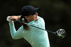May 26, 2018 - Ann Arbor, Michigan, United States - Lindy Duncan of Plantation, FL tees off on the first tee during the third round of the LPGA Volvik Championship at Travis Pointe Country Club, Ann Arbor, MI, USA Saturday, May 26, 2018. (Credit Image: © Jorge Lemus/NurPhoto via ZUMA Press)