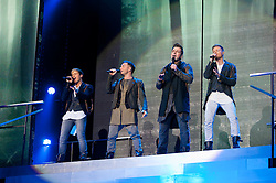 © Licensed to London News Pictures. 23/05/2012. London, UK. Westlife perform live at The O2 Arena, London, as part of their final ever farewell tour.   Westlife are an Irish boy band formed in 1998. They are to disband in 2012 after their farewell tour. The group's line-up was Shane Filan, Mark Feehily, Nicky Byrne, and Kian Egan.  Westlife have sold over 45 million records worldwide which includes studio albums, singles, video release, and compilation albums.  Photo credit : Richard Isaac/LNP