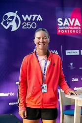 PORTOROZ, SLOVENIA - SEPTEMBER 11:   Ziva Falkner of Slovenia during the Tournament welcome drink in VIP Lounge of WTA 250 Zavarovalnica Sava Portoroz at Stadium Marina on September 11, 2021 in Portoroz / Portorose, Slovenia. Photo by Vid Ponikvar / Sportida