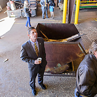 031914       Cable Hoover<br /> <br /> U.S. Sen. Martin Heinrich observes the operations of Mount Taylor Manufacturing in Milan during a tour Wednesday.